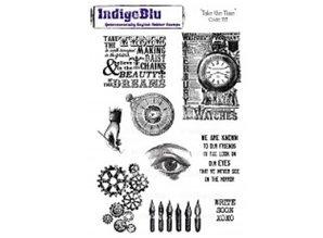 "IndigoBlu Rubber stamp, IndigoBlu, ""Take The Time"", A5"