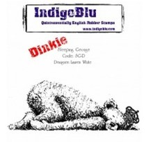 IndigoBlu Rubber stamp, IndigoBlu Sleeping George Dinkie Mounted A7