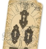 Graphic 45 Graphic 45, 5 Ornate Metal Key Holes