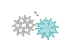 Sizzix Punching - and embossing stencil SET, Sizzix Framelits, Snowflakes