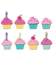 Sizzix Stempling og prægning stencil, Sizzix, ThinLits, Cupcakes