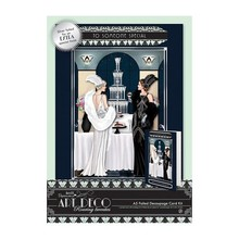 Docrafts / Papermania / Urban A5 Decoupage Card Kit Foiled - Art Deco - Champagne