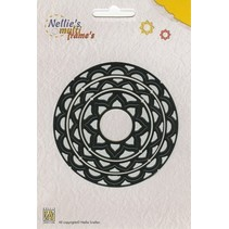 Punzonatura e goffratura modello Nellie`s Multiframe cerchio