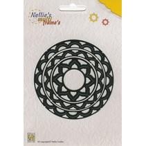 Stanz- und Prägeschablone, Nellie`s Multi Frame cirkel