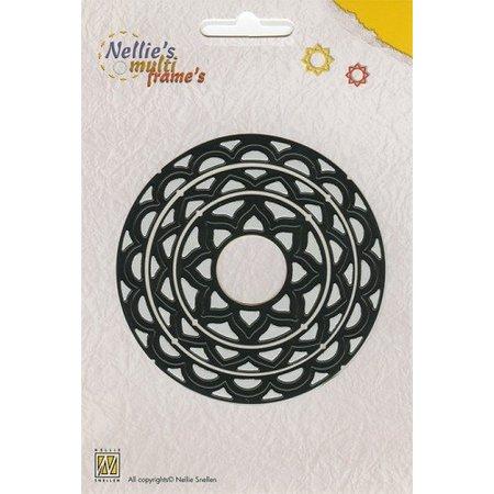 Nellie snellen Perforación y relieve plantilla Nellie`s Multiframe cirkel