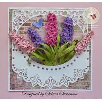 Stanz- und Prägeschablone, Sizzix, ThinLits, Flower, Lilac