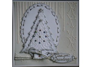 Nellie snellen Punching and embossing template Nellie`s Multi frame, Christmas tree