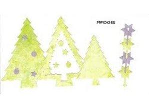 Nellie snellen Punzonado y la plantilla de estampado marco Nellie`s múltiples, árbol de navidad
