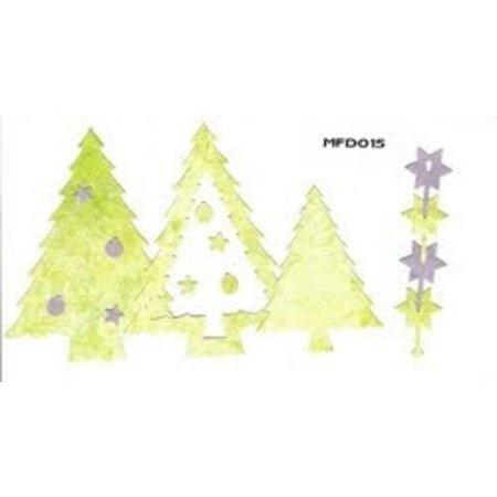 Nellie snellen Stanz- und Prägeschablone, Nellie`s Multi Rahmen, Weihnachtsbaum