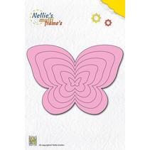 Perforación y relieve plantilla Nellie`s multitrama, mariposas