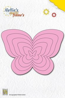Nellie snellen Punching and embossing template Nellie`s multiframe, butterflies