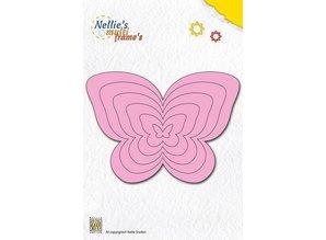 Nellie snellen Perforación y relieve plantilla Nellie`s multitrama, mariposas