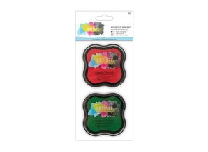 FARBE / INK / CHALKS ... Metallic ink pad Water-based (2p) - red and gün