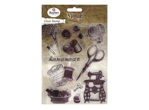 Stempel / Stamp: Transparent Klare stempler, vintage håndarbejde