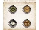 Embellishments / Verzierungen Conjunto de ScrapBerry Of Metal Cork Vintage Car