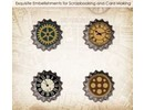 Embellishments / Verzierungen Set Di Metallo Cork auto d'epoca di ScrapBerry