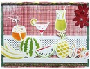 Joy!Crafts und JM Creation Punching and embossing stencil border with fruits