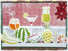 Joy!Crafts und JM Creation Punzonatura e goffratura stencil confine con la frutta