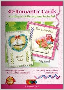 KARTEN und Zubehör / Cards Bastelbuch per la progettazione di schede romantiche 6