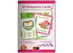 KARTEN und Zubehör / Cards Bastelbuch für Gestaltung von 6 romantische Karten