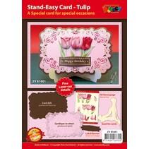 Craft sæt for design af 1 ædel, XL 3D tulipaner kort