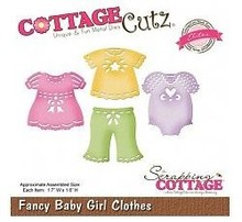 Cottage Cutz Punching and embossing template CottageCutz: Baby girl clothes