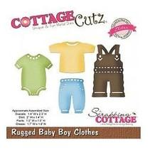 Perforación y la plantilla de estampado CottageCutz: ropa de niño del bebé