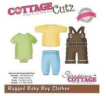 Cottage Cutz Stansning og prægning skabelon CottageCutz: Baby boy tøj