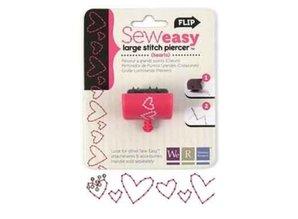 BASTELZUBEHÖR / CRAFT ACCESSORIES Sew Easy, stitch piercer to sew on paper + paper with heart motif!