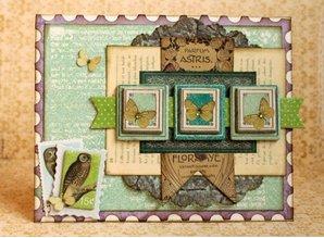 Bo Bunny Klistermærker, Spånplade Enchanted Garden sorteret,