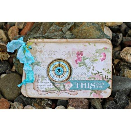 Bo Bunny 3D stickers, Spånplade Garden Journal sorteret,
