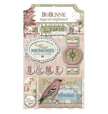 Bo Bunny 3D Sticker,Chipboard Garden Journal, sortiert