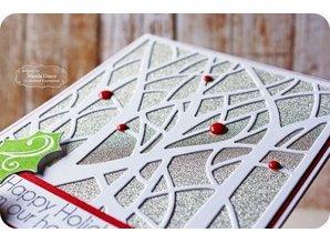 Designer Papier Scrapbooking: 30,5 x 30,5 cm Papier Scrapbooking-Papier: Glitter silber irisierend