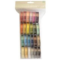 Un conjunto de 24 satén cintas decorativas, coordinado color!