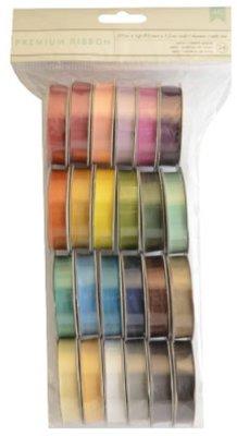 DEKOBAND / RIBBONS / RUBANS ... Un insieme di 24 nastri decorativi raso, colore-coordinato!