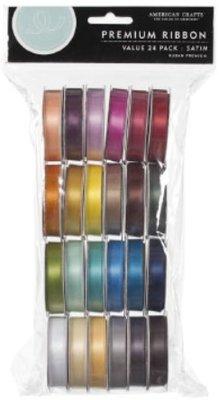 DEKOBAND / RIBBONS / RUBANS ... Ein Set von 24 Satin Dekobänder, farblich aufeinander abgestimmt!