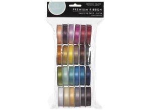 DEKOBAND / RIBBONS / RUBANS ... A set of 24 Satin decorative ribbons, color-coordinated! - Copy
