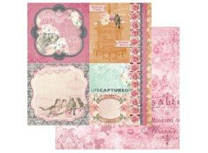 Designer Papier Scrapbooking: 30,5 x 30,5 cm Papier 1 doble cara papel diseñador impreso, 180 gr