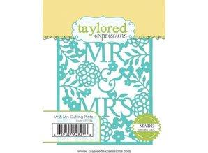 Taylored Expressions Skæreskabelon Die, taylored Expressions, Mr. & Mrs.
