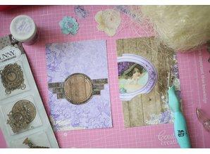 Embellishments / Verzierungen Pynt: Bo Bunny laserskåret spånplade tidsmåler