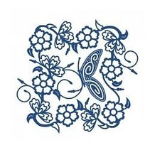 Stamping and punching template, Tattered Lac, Tudor Rose Tapestry
