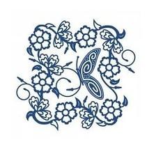 Stempelen en ponsen template, flarden Lac, Tudor Rose Tapestry