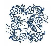 Tattered Lace Presning og stansning skabelon, Tattered Lac, Tudor Rose Tapestry