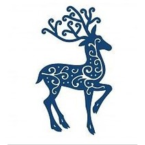 Stamping and punching template, Tattered Lace, Reindeer