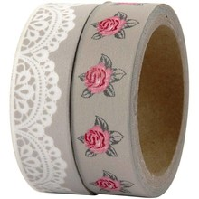 "DEKOBAND / RIBBONS / RUBANS ... Scene Tape ""Rose Design"", W: 15 mm, 2x5 m"