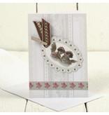 KARTEN und Zubehör / Cards 5 Vintage kort + kuverter, kort str 10,5x15 cm
