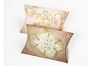 Dekoration Schachtel Gestalten / Boxe ... Karton, LxBxH 12x9,5x2,4 cm, 10 stk.