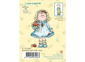 Leane Creatief - Lea'bilities Klare stempler, Bambini pige med roser