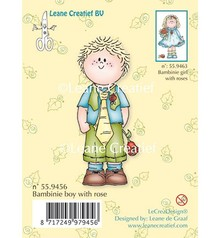 Leane Creatief - Lea'bilities Timbri trasparenti, Bambini ragazzo con una rosa