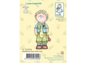 Leane Creatief - Lea'bilities Clear stamps, Bambini boy with a rose